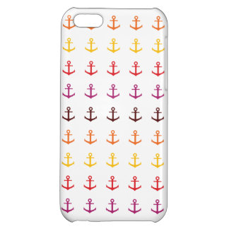 Colorful anchor pattern cover for iPhone 5C