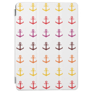 Colorful anchor pattern iPad air cover