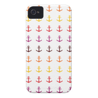 Colorful anchor pattern iPhone 4 cover