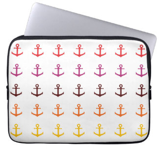 Colorful anchor pattern laptop sleeve