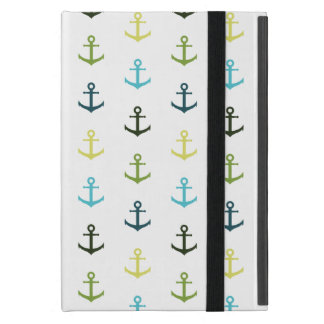 Colorful anchor pattern on stripy background case for iPad mini