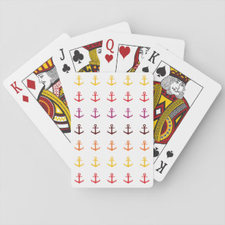 Colorful anchor pattern playing cards