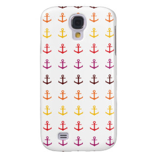 Colorful anchor pattern samsung galaxy s4 case