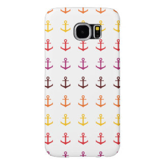 Colorful anchor pattern samsung galaxy s6 cases
