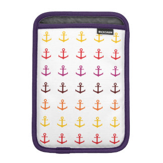 Colorful anchor pattern sleeve for iPad mini