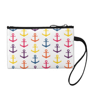 Colorful anchors pattern coin purse