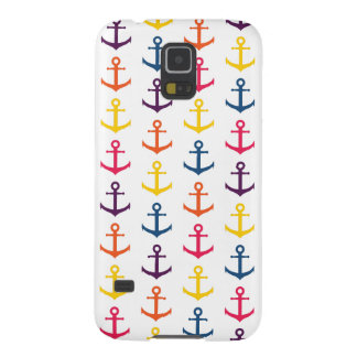 Colorful anchors pattern galaxy s5 cover