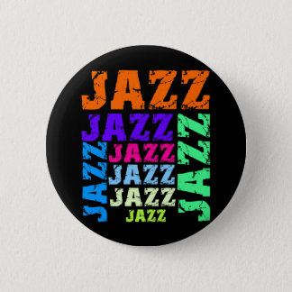 Colorful and cool jazz 6 cm round badge