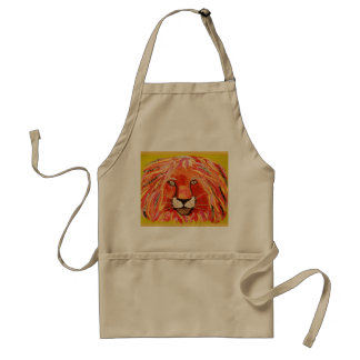Colorful and Cool Lion Apron