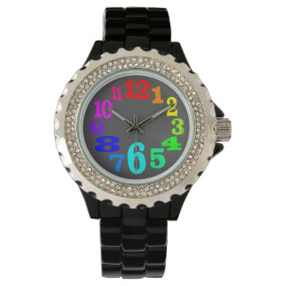 colorful and crazy numbers watch