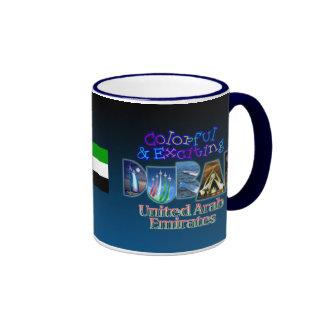 Colorful and Exciting Dubai Ringer Mug