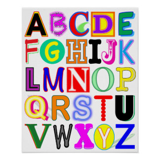 Colorful and Fun Alphabet Poster