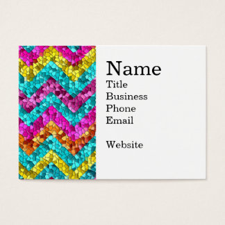 Colorful and Fun Tile Mosaic Chevron Pattern Business Card