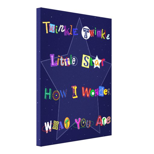 Colorful and Fun Twinkle Twinkle Little Star Canvas Prints