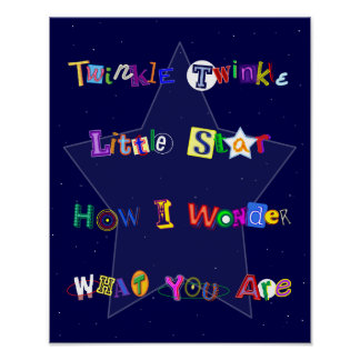 Colorful and Fun Twinkle Twinkle Little Star Poster