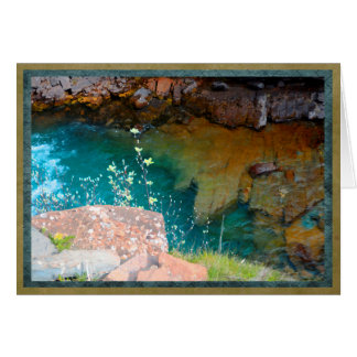 Colorful and tranquil pool in stream card