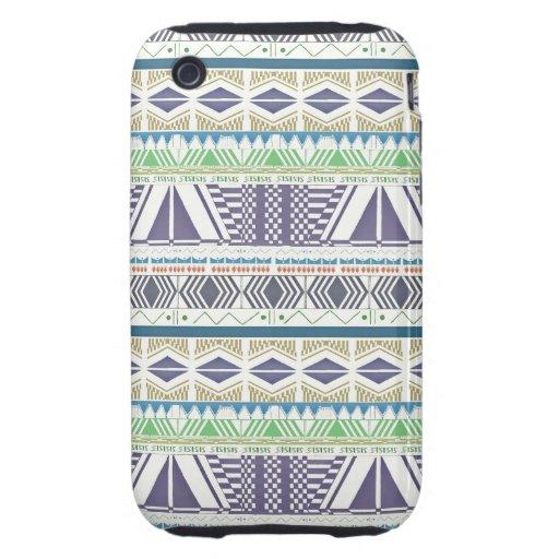 Colorful and Unique Aztec Art iPhone 3 Case