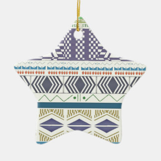 Colorful and Unique Aztec Art Ornament