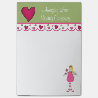 Colorful Angel and Hearts Note Pad Post-it® Notes