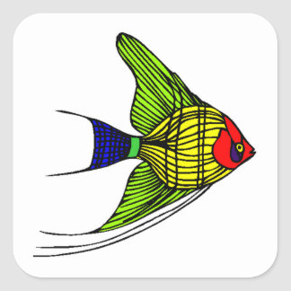 Colorful Angel Fish Stickers