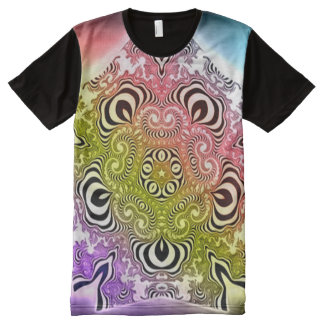 Colorful Angel Spirit Healing Mandala Art All-Over Print T-Shirt