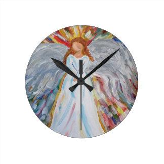 Colorful Angel Wallclock