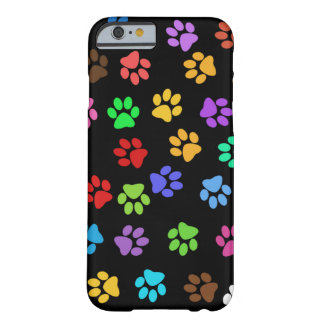 Colorful Animal Footprints Barely There iPhone 6 Case