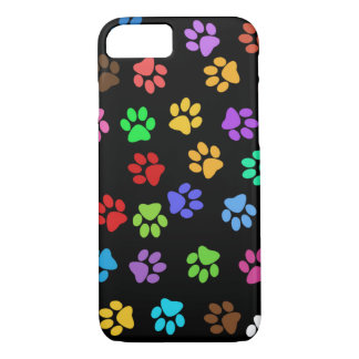 Colorful Animal Footprints iPhone 7 Case