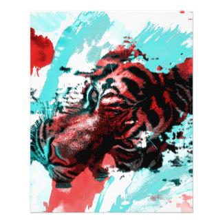 Colorful Animal Tiger 11.5 Cm X 14 Cm Flyer