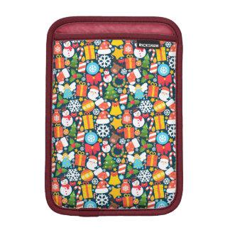 Colorful animated christmas character icon pattern iPad mini sleeve