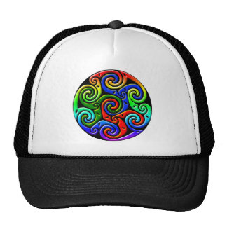 Colorful Antique Celtic Art - Intricate Beautiful Trucker Hats
