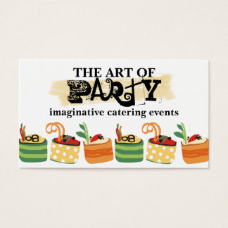 colorful appetizers chef catering business card