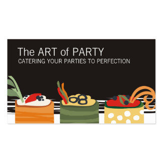 colorful appetizers chef catering business card... pack of standard business cards