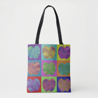 Colorful Apples Pop Art Tote Bag