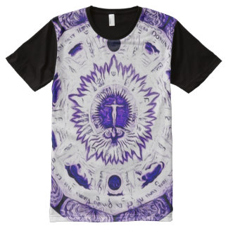 Colorful Archangel Spirit Heart Mandala Art All-Over Print T-Shirt