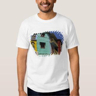Colorful architecture of La Boca neighborhood Tshirts