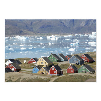 Colorful architecture of the town, Narsaq, Photo