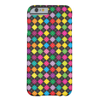 Colorful Argyle Pattern (Black & White)- iPhone 6 Barely There iPhone 6 Case