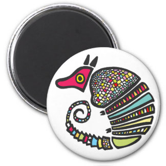 Colorful Armadillo Magnet