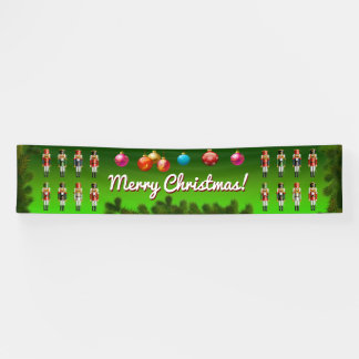 Colorful Army Of Nutty Nutcracker Toy Soldiers Banner