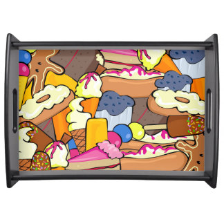 Colorful array of Sweets Serving Tray