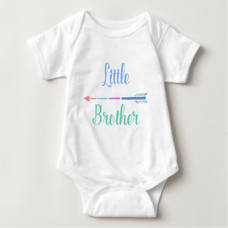 Colorful Arrow Little Brother,adorable baby couple Baby Bodysuit