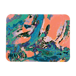 Colorful Art Magnet Wave Design Water Colors