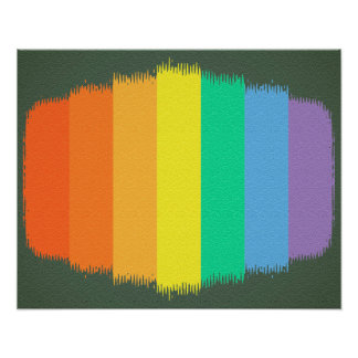 Colorful Art Rainbow Strokes Background Poster