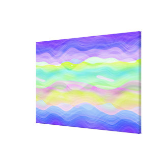 Colorful Artistic Abstract Retro Cool Wave Pattern Canvas Print