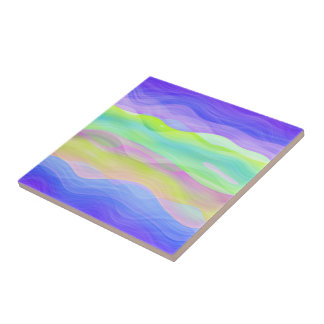Colorful Artistic Abstract Retro Cool Wave Pattern Ceramic Tile