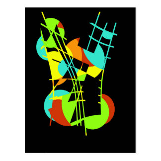 Colorful artistic apstraction postcard