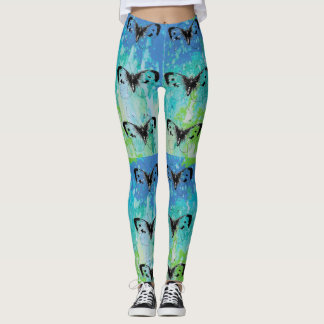 Colorful Artistic Butterfly Leggings