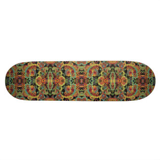 Colorful artistic drawn paisley pattern 18.1 cm old school skateboard deck