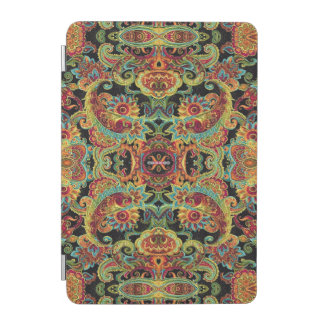 Colorful artistic drawn paisley pattern iPad mini cover
